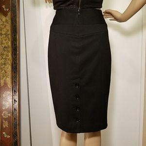 NWT 💕Express Pencil Skirt 💖4 Button Back Slit